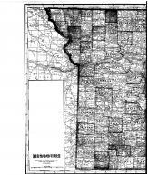 Missouri State Map - left, Boone County 1917